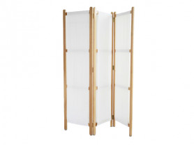 Screen 150 cm wooden structure white fabric