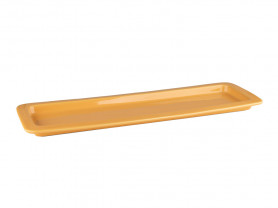 Rectangular orange porcelain tray