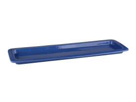 Large rectangular blue porcelain tray