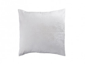 Embroidered white polyester cushion