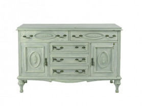 Chest of drawers white blue
