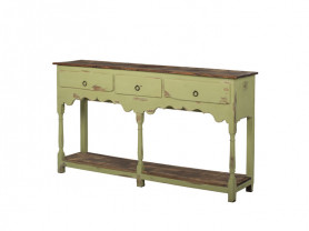 Vintage green high table