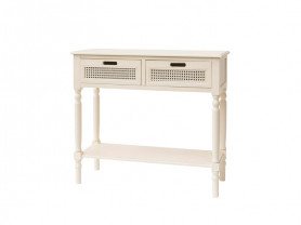 White ceremony table drawers grid