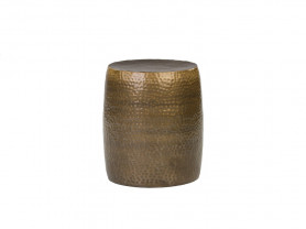 Mesa / puf chillout Hammered oro