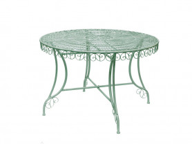 Green and rust garden table