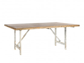 Romantic oak pickled wood table
