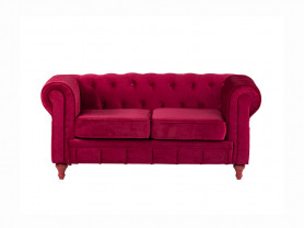 Chester sofa red velvet 2 pax
