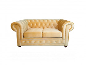 Chester sofa yellow velvet 2 pax
